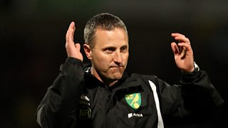 Youth coach Neil Adams replaces Chris Hughton as manager of Norwich City.