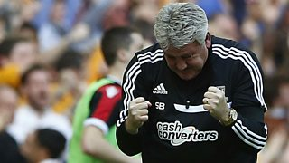 Steve Bruce 'delighted' with FA Cup semi-final success against Sheffield United.