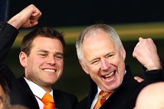 TV presenter Nick Owen says Luton Town's promotion from the Conference is