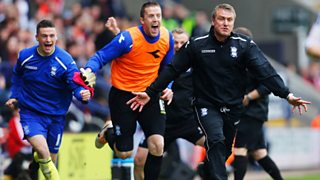 Birmingham manager feared for club's survival had they been relegated from Championship.