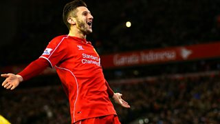 A double for Adam Lallana helps Liverpool to a 4-1 win over Swansea at Anfield.