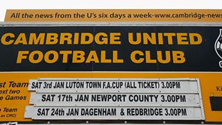 Cambridge United, the lowest ranked team left in the competition drew Manchester United.