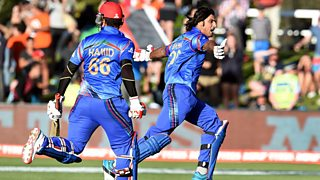 The final, dramatic over as Afghanistan record an historic victory over Scotland.