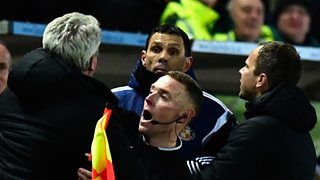 Hull City defender Curtis Davies had a front row seat for the controversial incident.