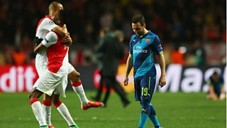 Danny Mills questions Arsenals mentality when playing in europe.