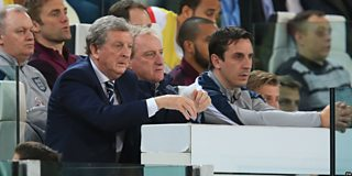 Roy Hodgson admits he was disappointed with England's first half display against Italy.