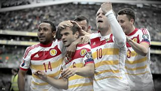A John O'Shea own goal keeps Scotland's hopes of qualifying for Euro 2016 alive.