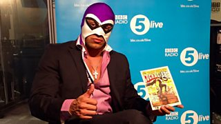 Lucha Libre Mexican wrestler El hijo del Fantasma says his mask makes him 'invincible'.