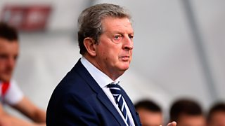 Roy Hodgson reacts to being drawn in same World Cup qualifying group as Scotland.