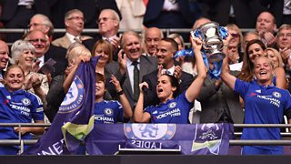 Chelsea beat Notts County 1-0 in the first Women's FA Cup final to be played at Wembley.