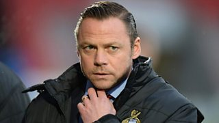 In a great show of sportsmanship Paul Dickov orders his players to allow Bury to score.
