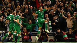 Listen back to both of Jon Walters' goals as Republic of Ireland qualify for Euro 2016.