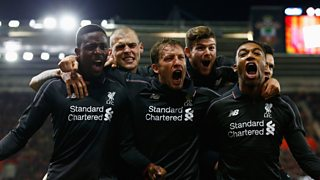 Liverpool beat Southampton 6-1 to make it through to the League Cup semi-finals