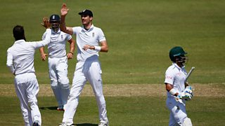 Former England spinner Graeme Swann predicts the dismissal of South Africa's JP Duminy.