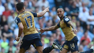 Man City's top four hopes suffer a blow as they draw 2-2 with Arsenal.