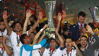 Sevilla beat Liverpool 3-1 in the Europa League final in Basel.