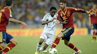 Match of the Day Live, Confederations Cup 2013 - Nigeria v Spain or Uruguay v Tahiti