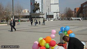 Street scene in Kosovo