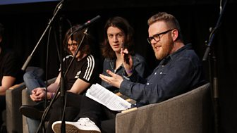 Huw Stephens and Blossoms at BBC Music's Conference in 2015