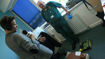 Richard meets the team at the East Midlands Ambulance Service HQ.