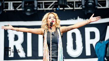 Rita Ora at T in the Park 2012