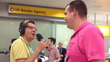 Tony Livesey at Heathrow on the eve of London 2012