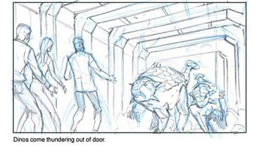 Dinosaurs on Spaceship Storyboards (Part One)