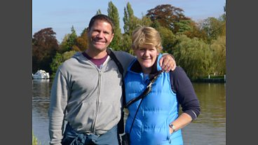 A photo-gallery of Clare Balding's walk in Buckinghamshire with Steve Backshall