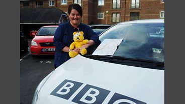 Preparations for Emma's Children in Need Driving Challenge 2012
