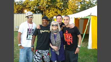 Annie Nightingale at Glastonbury 2010