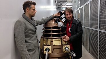 Richard Bacon on the Doctor Who set