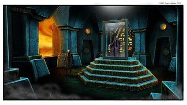 Production Artwork for The Rings of Akhaten