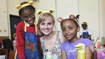 Tina O'Brien visits Z-arts in Manchester