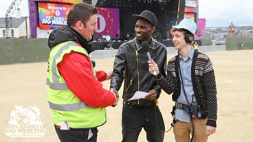 Backstage at on Sunday BBC Radio 1's Big Weekend