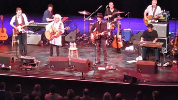 Emmylou Harris and Rodney Crowell at Glasgow's Royal Concert Hall.