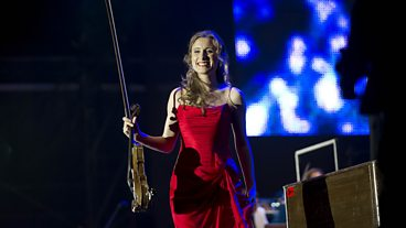 Jenny Pike at Last Night of the Proms Celebrations 2013