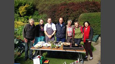 Cooking at the Edinburgh Garden Partners edible garden