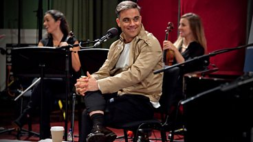 Robbie Williams at BBC Maida Vale Studios