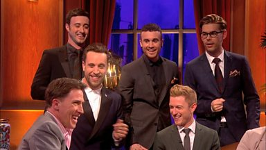 Image for The Overtones and Rob Brydon sing a serenade to Barbara Windsor
