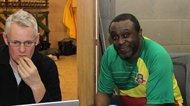 Image for Dotun takes part in 5-live-a-side