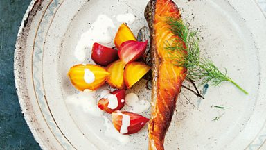 Image for Cook the perfect...hot oak-smoked salmon with Diana Henry