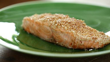 Image for Sesame seed salmon with mirin