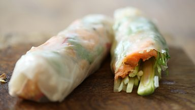 Image for Salmon summer roll