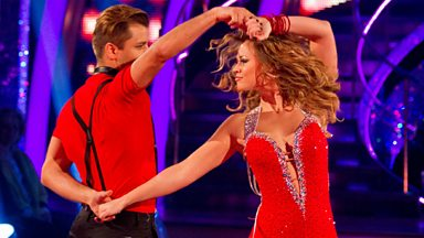Image for Kimberley and Pasha dance the Salsa to 'Naughty Girl'