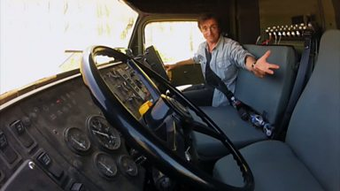 Image for Richard Hammond takes a ride in a self-driving truck