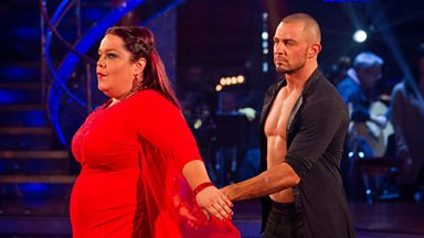 Image for Lisa and Robin dance the Rumba to 'As If We Never Say Goodbye'