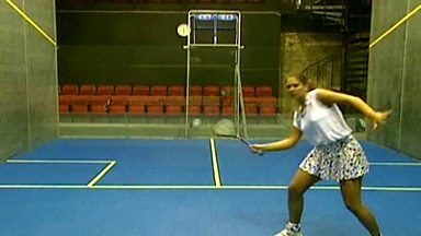 how to hit a squash ball with power