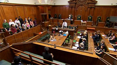 Image for Mock criminal trial at the Old Bailey - case and plea (pt 1/6)