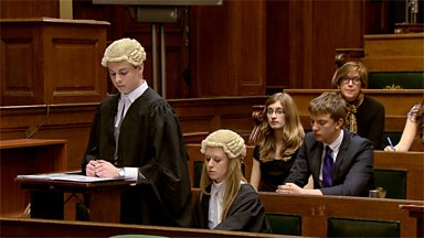 Image for Mock criminal trial at the Old Bailey - cross-examination of defence witness (pt 4/6)