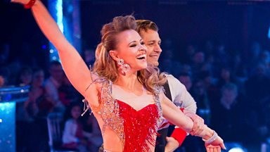 Image for Kimberley and Pasha dance the Cha Cha/Tango to 'It's Raining Men'